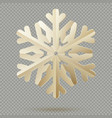 vintage christmas decoration paper snowflakes with vector image