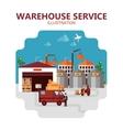 Warehouse Service vector image