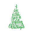 We wish you a merry christmas hand lettering vector image