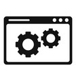 web page engine icon simple style vector image vector image