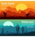 Desert Banner Set vector image
