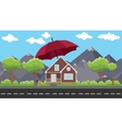 house insurance sign or symbol protection with vector image