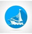 Sea yacht round icon vector image