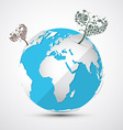 Globe - Earth with Heart Shaped Trees vector image