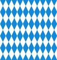 Oktoberfest background Bavarian flag pattern vector image