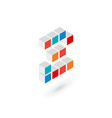 3d cube number 2 logo icon design template vector image vector image
