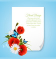 8 march realistic postcard vector image vector image