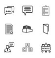 9 text icons vector image vector image