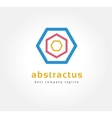 Abstract colored circles logo icon concept vector image vector image