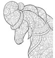 adult coloring bookpage a cute horse wearing a vector image vector image