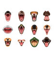 animal mouth set vector image