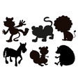 Animals in black colored images vector image vector image