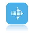 arrow icon square blue dotted icon vector image