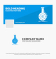 blue business logo template for analysis vector image vector image