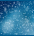 blue christmas snowflakes background eps 10 vector image vector image