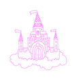 cartoon lined pink princess vector image vector image