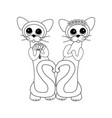cats in love vector image vector image