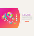 charts infographic growth diagram graph vector image