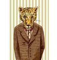 cheetah in a jacket vector image