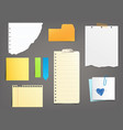 collection of paper notes vector image
