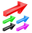 colored arrows 3d next signs vector image vector image