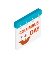 Columbus day calendar isometric 3d icon vector image vector image