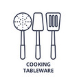 cooking tableware line icon concept cooking vector image vector image