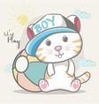 cute bacat for kids vector image
