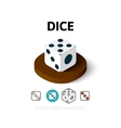 Dice icon in different style vector image vector image