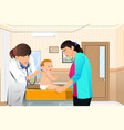 doctor examining a baby vector image vector image