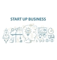 Doodle style design concept of start up business vector image vector image