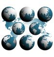 earth over continents vector image