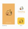 electric power company logo app icon and splash vector image