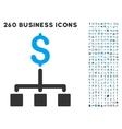 financial hierarchy icon with flat set vector image vector image