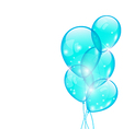 Flying blue balloons isolated on white background vector image vector image
