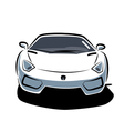 Front of sport car vector image vector image
