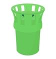 Green bin icon cartoon style vector image vector image