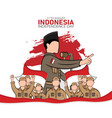 hand drawn indonesia independence day greeting vector image vector image
