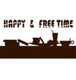 happy freetime vector image