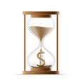 hourglass with dollar sign costs money icon vector image vector image
