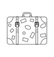 icon of suitcase vector image