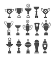 icons set of silhouette sport award cups vector image vector image