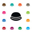 isolated trilby icon cap element can be vector image vector image