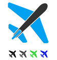 jet airplane flat icon