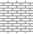line art black and white brick wall vector image