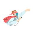 male doctor superhero wearing medical mask vector image vector image