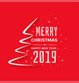 merry christmas and new year red greeting vector image vector image