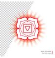 muladhara - chakra of human body vector image vector image