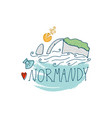 normandy hand drawn vector image