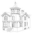 old house in victorian style on vector image